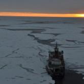 R/V Polarstern icebreaker at the North Pole