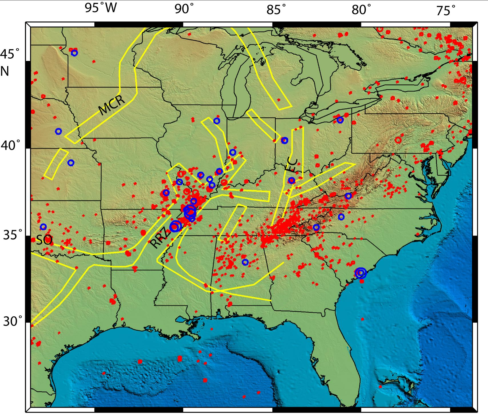 New Madrid Seismic Zone A Cold Dying Fault