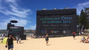 Australian Open 2016 surfing competition