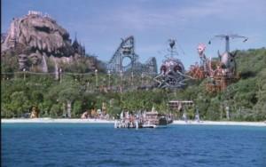 Spooky Island movie set on Moreton Island