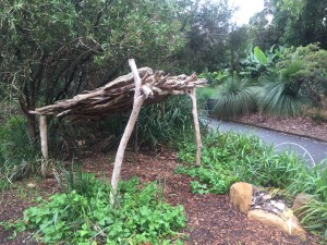 Example of a hut used in aboriginal life
