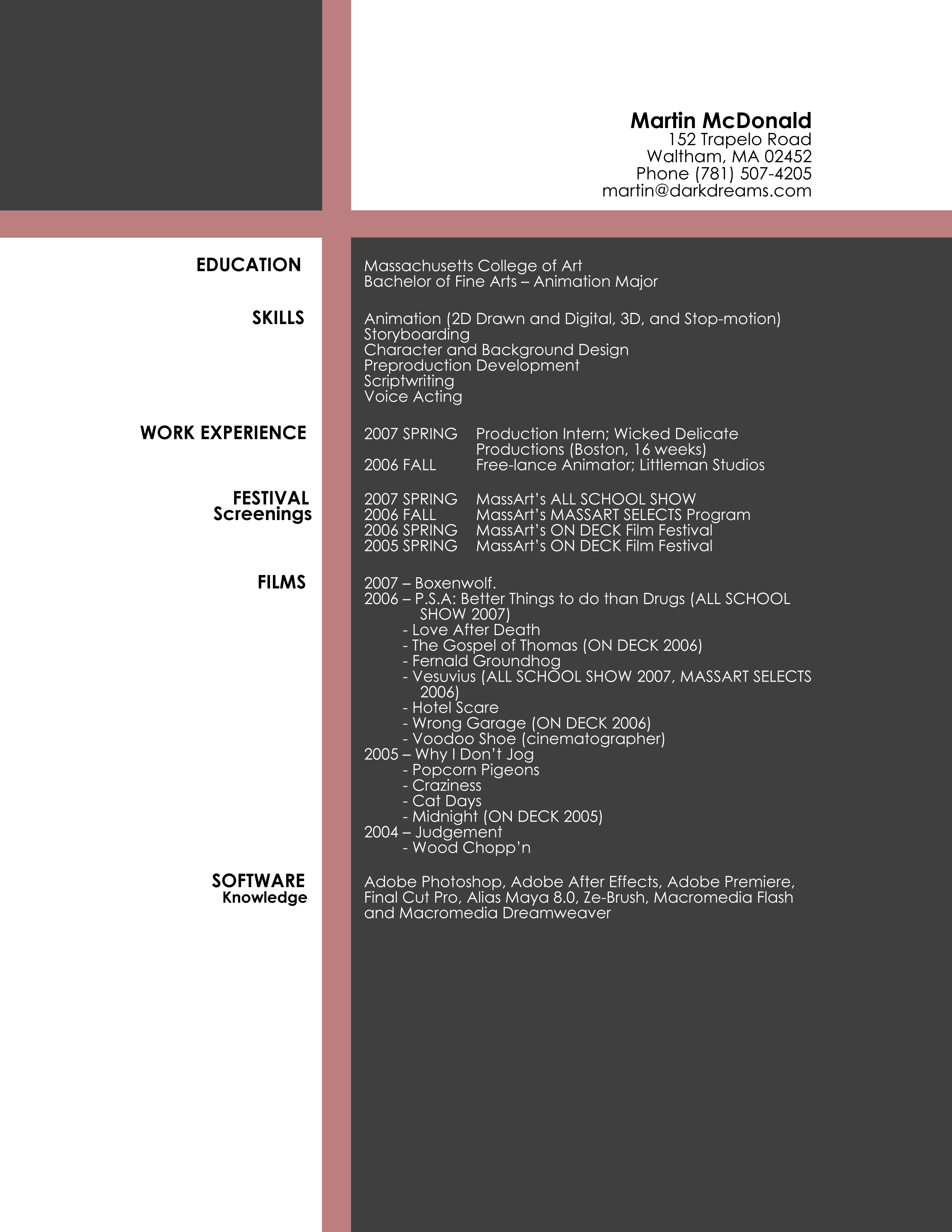 d artist resume template Alternative ways of