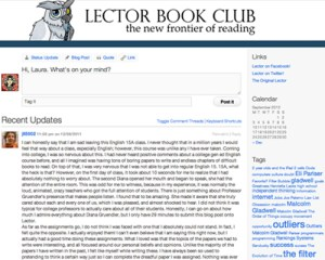 Lector Book Club Blog Screenshot