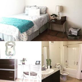 Collage - Bedroom and bathroom