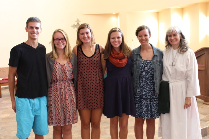 Students celebrate Mindy's installation last fall!