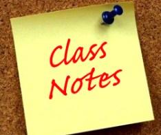 Classnotes