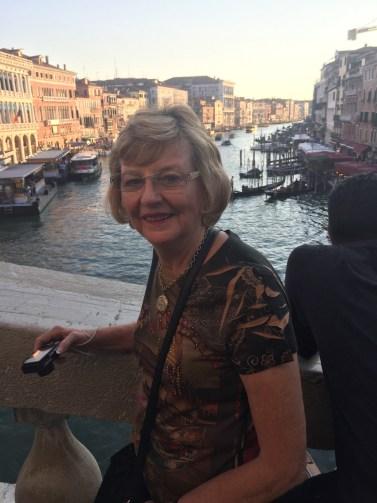 Sandi Jones on a trip to Venice.
