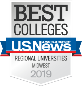 U.S. News & World Report Regional Universities Midwest Badge 2019