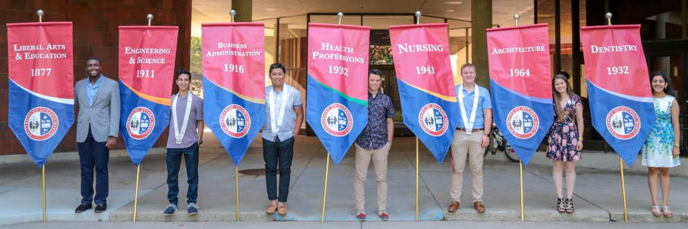 First-Year Convocation Banner holders 2018