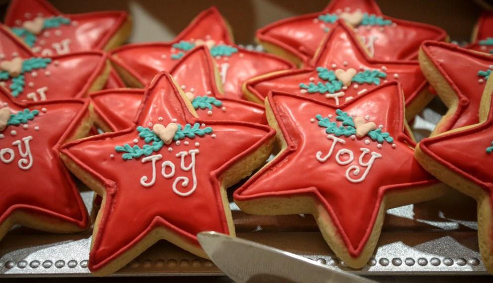 Joyous Christmas cookies