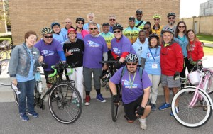 2018 Group of riders at the Tour du Titan bike ride.