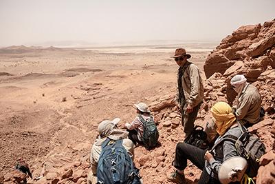 Nizar Ibrahim on an excavation site.