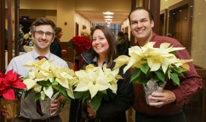 Detroit Mercy employees love taking home the holiday centerpieces!