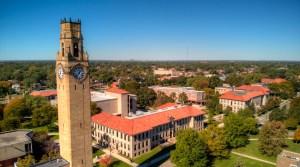 Aerial shot of Detroit Mercy McNichols Campus.