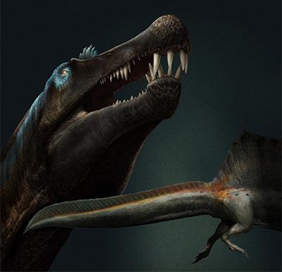 Newly discovered dinosaur by University of Detroit Mercy professor Nizar Ibrahim.