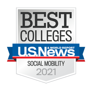 2021 U.S. News & World Report social mobility badge