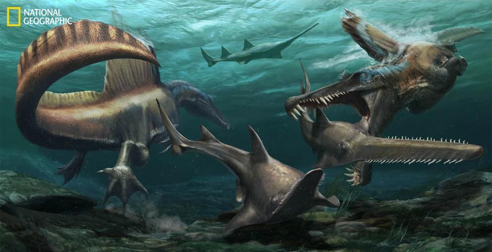 Rendering of Spinosaurus.