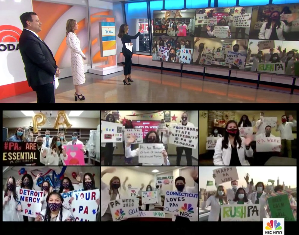 "Detroit Mercy PA students virtually visited NBC's ""Today"" show."