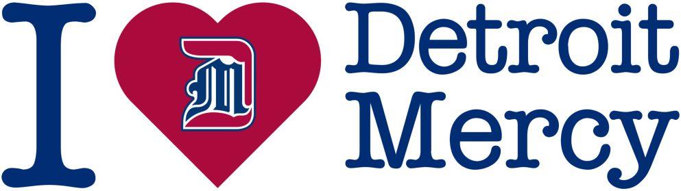 I Love Detroit Mercy Logo
