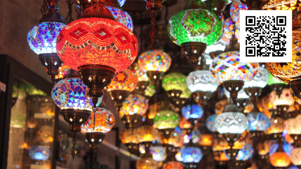 Lanterns in india of all different shapes and colors.