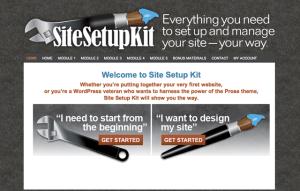 Site Setup Kit Welcome Page
