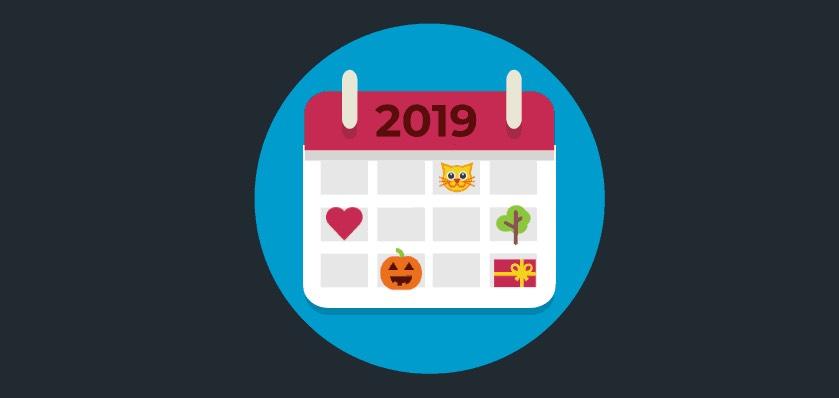 Calendário de Marketing 2019 e Redes Sociais 2019