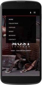 Мобильная версия сайта MOST - кожа из Швейцарии - mostleather.com 2