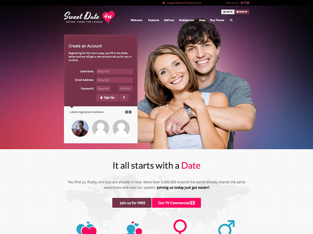 Wordpress dating web design