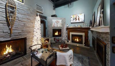 Black Hat Fireplace & Chimney Holidays 3D Model