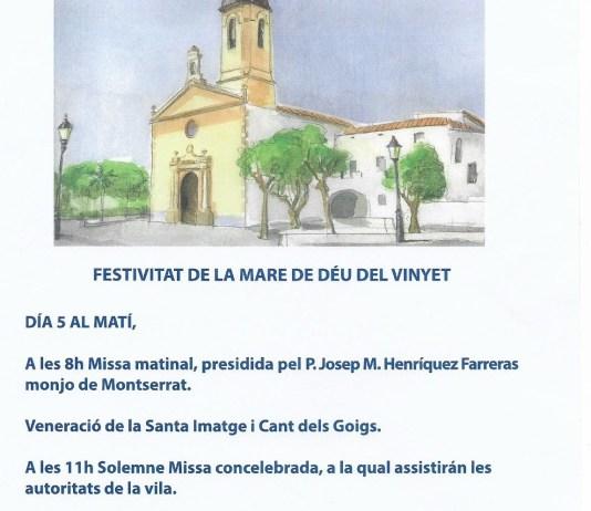 Fiesta de la Virgen del Vinyet Sitges 2020