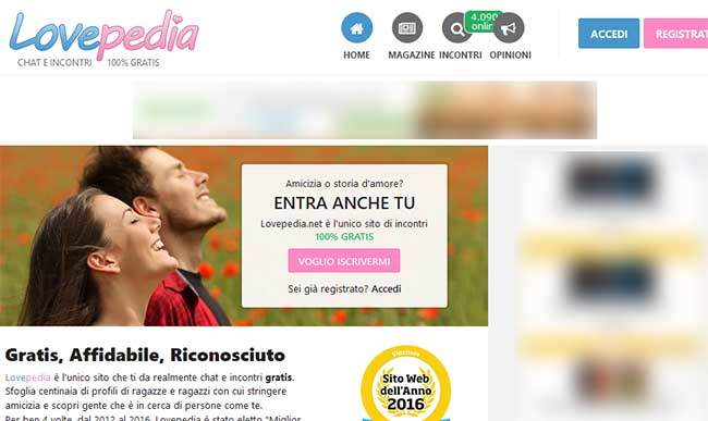 Lovepedia sito di incontri gratis