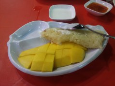 Menu makan malam - Mango Sticky Rice