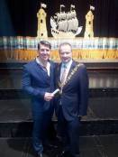 Craig O'Flynn receives recognition for his hard work with youths in Ireland from Cork City Lord Mayor