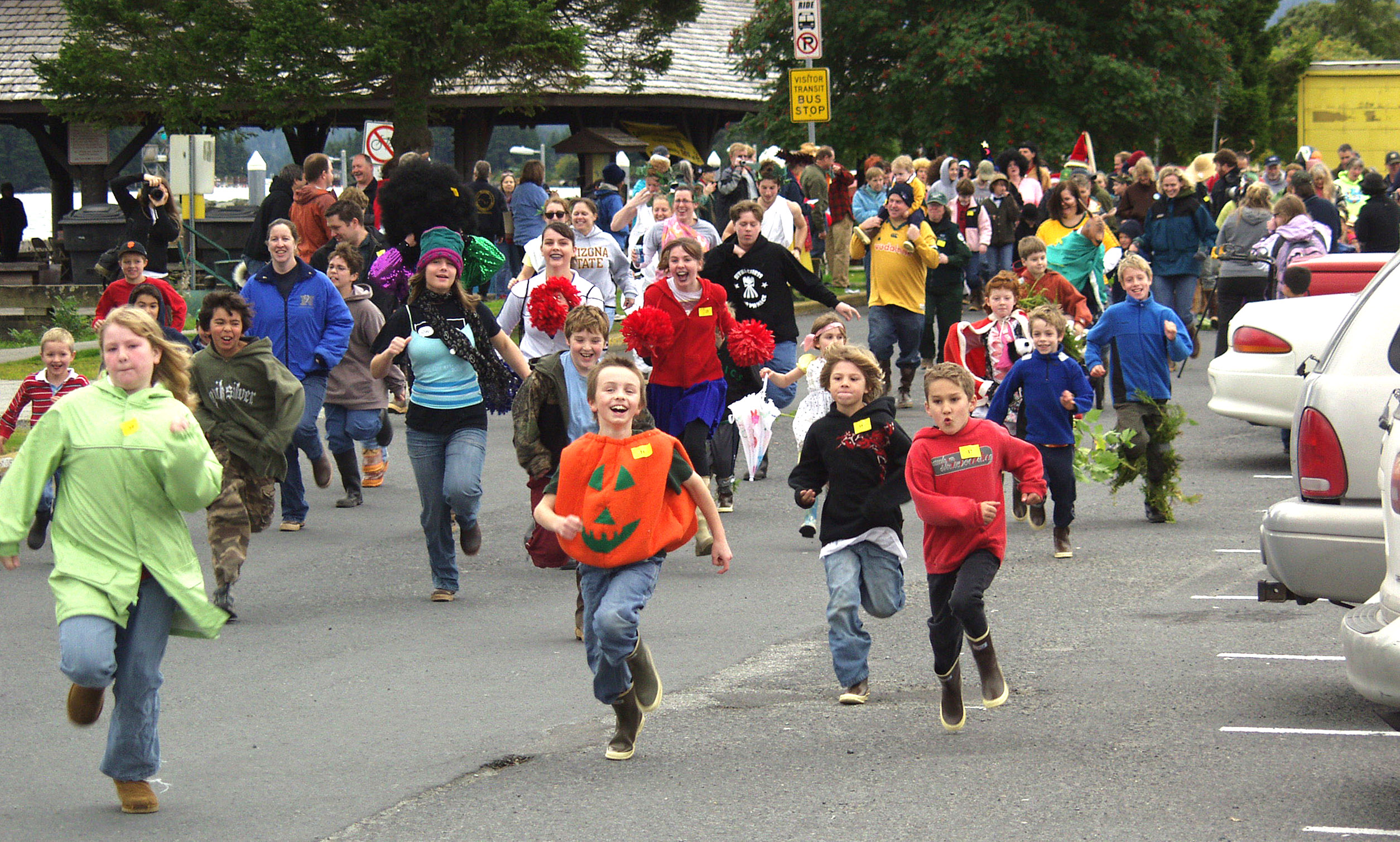Runners hit the trail during the 14th Annual Running of the Boots race on Sept. 27, 2008, in Sitka.