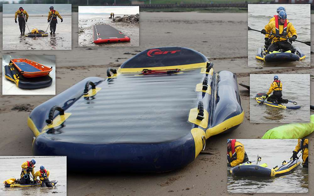 SIT Rescue sled path and raft with MCA