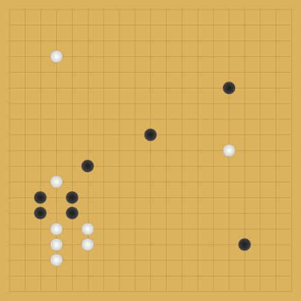 Figure 1. A Go board. Each intersection of two grid lines represents a possible space to place a piece. Because of the huge number of options, and thus possible strategies, it has long been believed that computers could not defeat human professional Go players unless they had achieved true artificial intelligence.
