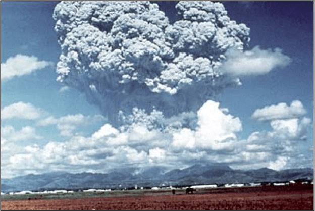 Figure 2: The 1991 eruption of Mount Pinatubo in the Philippines. (Source: USGS)