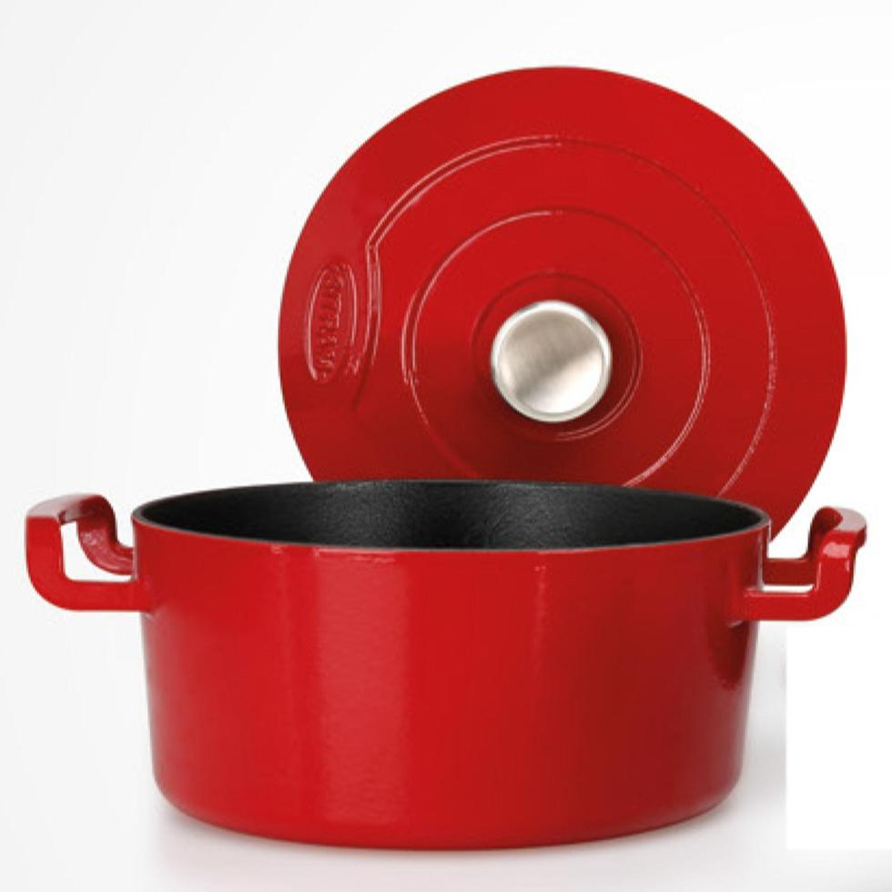 cast Iron sitrabella cocotte in red