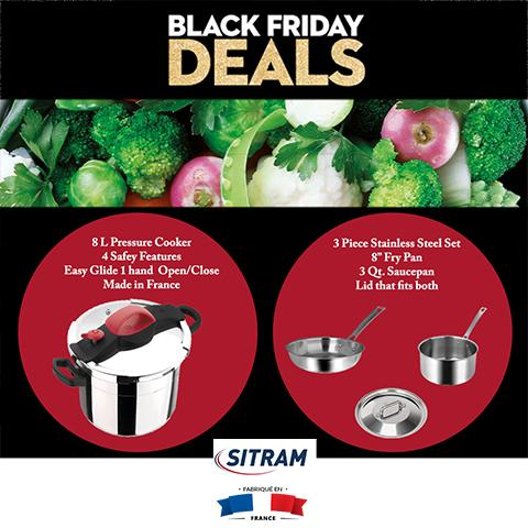 Black Friday deal pressure cooker and 3 pc set