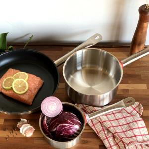 stainless steel and nonstick set