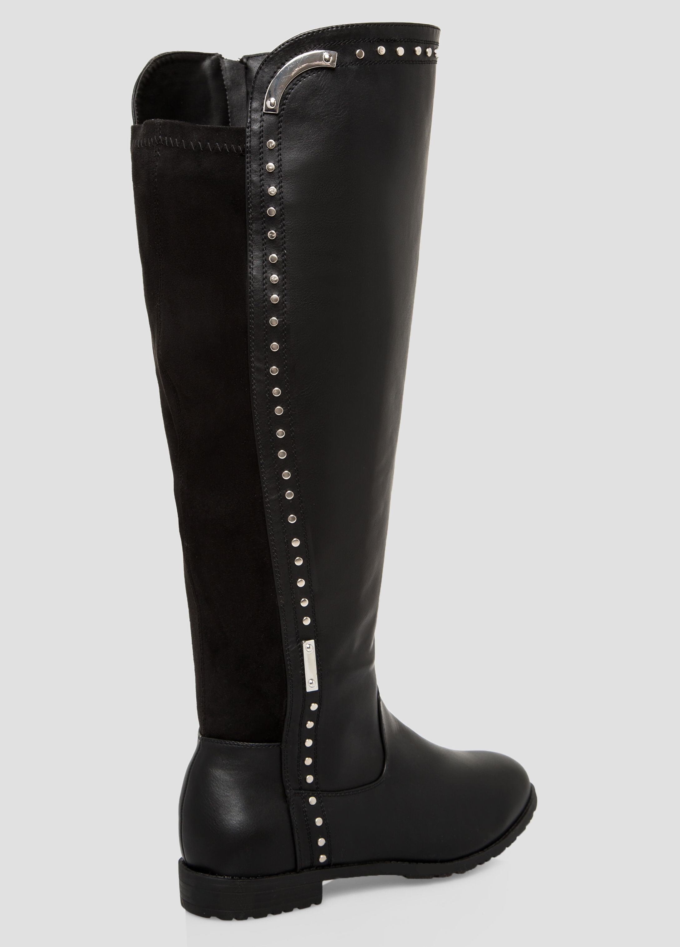 Black Boot Wide Calf Tall