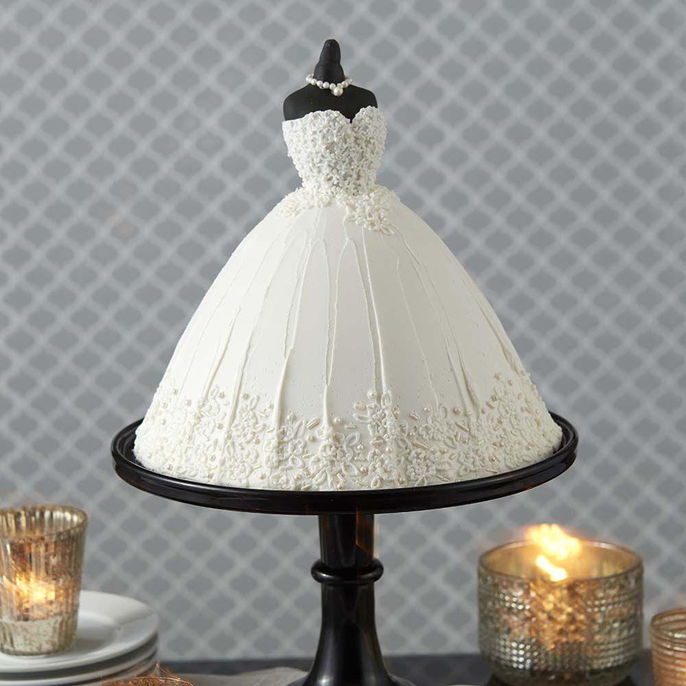 Elegant Wedding Dress Cake Wilton