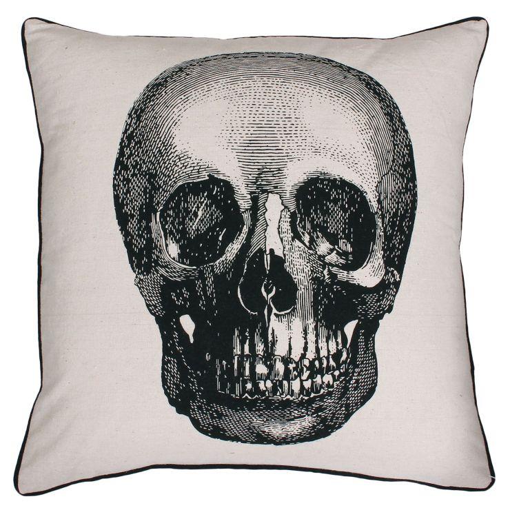 Leather Skull Pillow Pfeifer Studio
