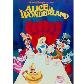Alice In Wonderland Printed Canvas