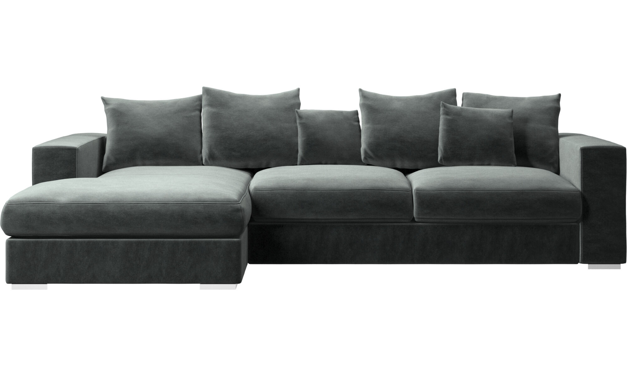 Sofas   Modern Sofas   Lounges   BoConcept Sydney Chaise lounge sofas   Cenova sofa with resting unit   Green   Fabric