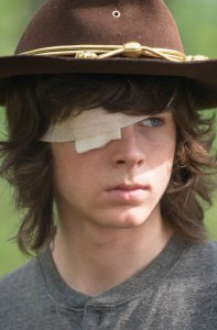 Chandler Riggs as Carl Grimes - The Walking Dead _ Season 6, Episode 10 - Photo Credit: Gene Page/AMC