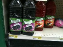 Fruit juice for $22.49 (I've seen these for $1 where I live)