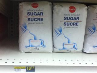 Sugar at $18.29