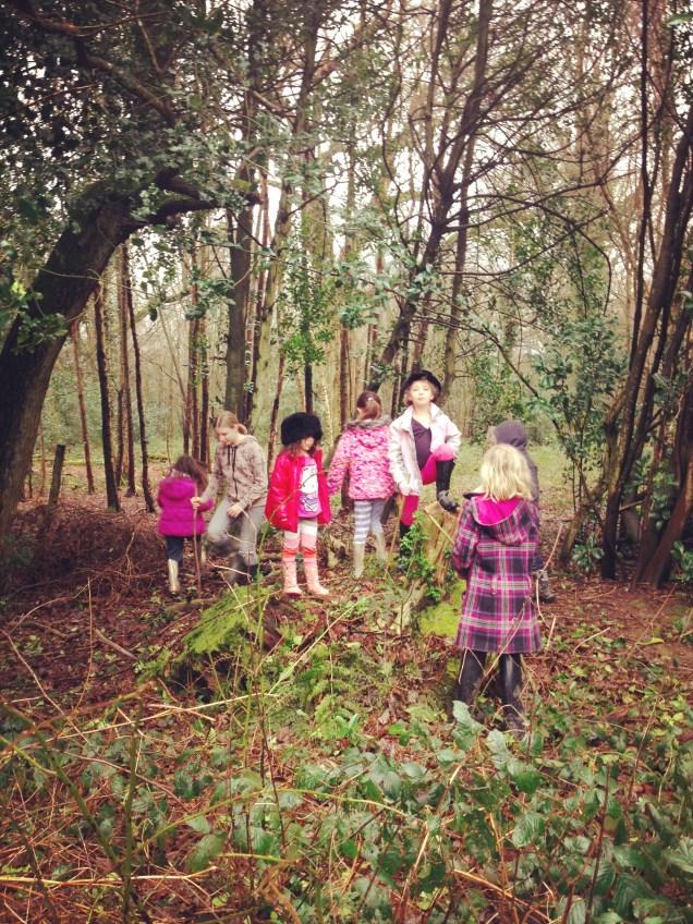 Kids In Woods