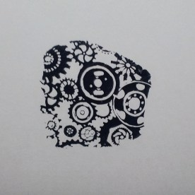 Wheels and Cogs Stamp Image